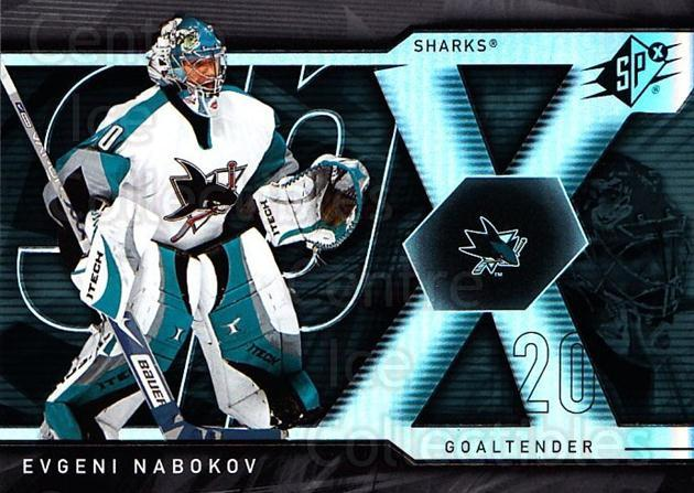 2007-08 SPx #15 Evgeni Nabokov<br/>5 In Stock - $1.00 each - <a href=https://centericecollectibles.foxycart.com/cart?name=2007-08%20SPx%20%2315%20Evgeni%20Nabokov...&quantity_max=5&price=$1.00&code=135805 class=foxycart> Buy it now! </a>