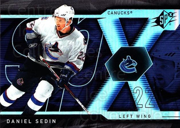 2007-08 SPx #35 Daniel Sedin<br/>4 In Stock - $1.00 each - <a href=https://centericecollectibles.foxycart.com/cart?name=2007-08%20SPx%20%2335%20Daniel%20Sedin...&quantity_max=4&price=$1.00&code=135826 class=foxycart> Buy it now! </a>