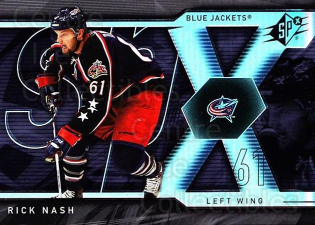 2007-08 SPx #39 Rick Nash<br/>5 In Stock - $1.00 each - <a href=https://centericecollectibles.foxycart.com/cart?name=2007-08%20SPx%20%2339%20Rick%20Nash...&quantity_max=5&price=$1.00&code=135830 class=foxycart> Buy it now! </a>
