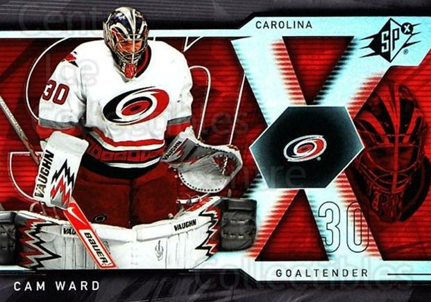 2007-08 SPx #56 Cam Ward<br/>4 In Stock - $1.00 each - <a href=https://centericecollectibles.foxycart.com/cart?name=2007-08%20SPx%20%2356%20Cam%20Ward...&price=$1.00&code=135849 class=foxycart> Buy it now! </a>