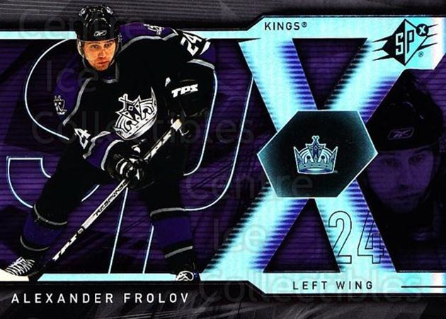 2007-08 SPx #9 Alexander Frolov<br/>5 In Stock - $1.00 each - <a href=https://centericecollectibles.foxycart.com/cart?name=2007-08%20SPx%20%239%20Alexander%20Frolo...&quantity_max=5&price=$1.00&code=135884 class=foxycart> Buy it now! </a>