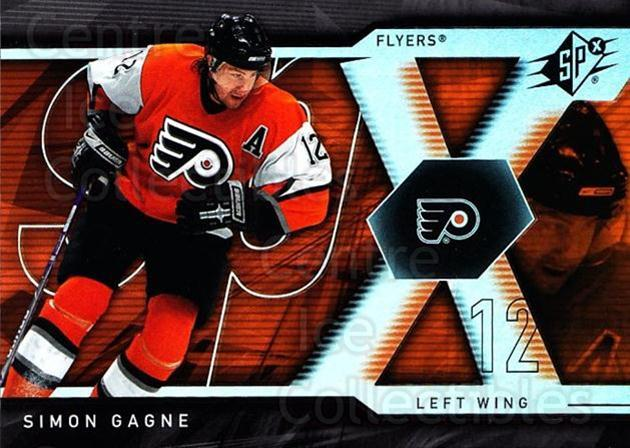 2007-08 SPx #94 Simon Gagne<br/>5 In Stock - $1.00 each - <a href=https://centericecollectibles.foxycart.com/cart?name=2007-08%20SPx%20%2394%20Simon%20Gagne...&quantity_max=5&price=$1.00&code=135889 class=foxycart> Buy it now! </a>