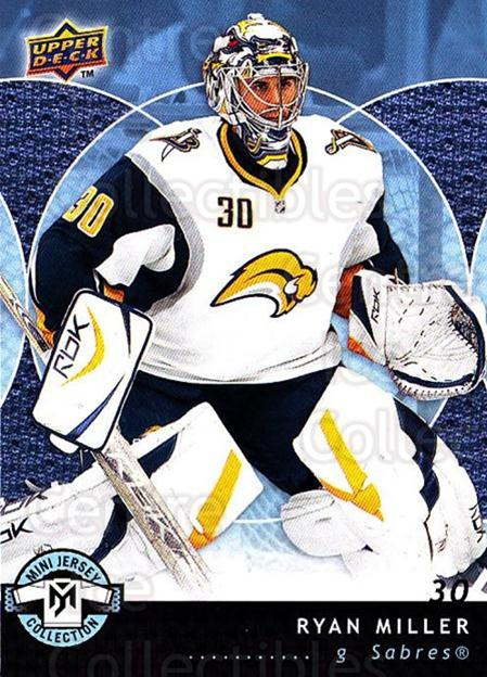 2007-08 UD Mini Jersey Collection #11 Ryan Miller<br/>5 In Stock - $1.00 each - <a href=https://centericecollectibles.foxycart.com/cart?name=2007-08%20UD%20Mini%20Jersey%20Collection%20%2311%20Ryan%20Miller...&quantity_max=5&price=$1.00&code=135965 class=foxycart> Buy it now! </a>