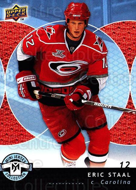 2007-08 UD Mini Jersey Collection #19 Eric Staal<br/>6 In Stock - $1.00 each - <a href=https://centericecollectibles.foxycart.com/cart?name=2007-08%20UD%20Mini%20Jersey%20Collection%20%2319%20Eric%20Staal...&quantity_max=6&price=$1.00&code=135973 class=foxycart> Buy it now! </a>