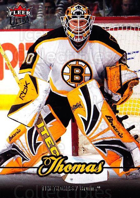 2007-08 Ultra #186 Tim Thomas<br/>5 In Stock - $1.00 each - <a href=https://centericecollectibles.foxycart.com/cart?name=2007-08%20Ultra%20%23186%20Tim%20Thomas...&quantity_max=5&price=$1.00&code=136155 class=foxycart> Buy it now! </a>