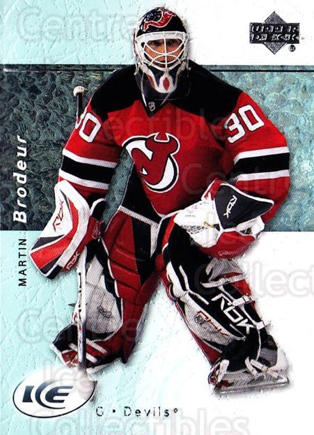 2007-08 UD Ice #1 Martin Brodeur<br/>3 In Stock - $2.00 each - <a href=https://centericecollectibles.foxycart.com/cart?name=2007-08%20UD%20Ice%20%231%20Martin%20Brodeur...&quantity_max=3&price=$2.00&code=136211 class=foxycart> Buy it now! </a>