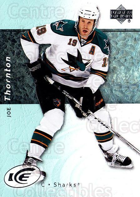 2007-08 UD Ice #100 Joe Thornton<br/>6 In Stock - $1.00 each - <a href=https://centericecollectibles.foxycart.com/cart?name=2007-08%20UD%20Ice%20%23100%20Joe%20Thornton...&quantity_max=6&price=$1.00&code=136213 class=foxycart> Buy it now! </a>