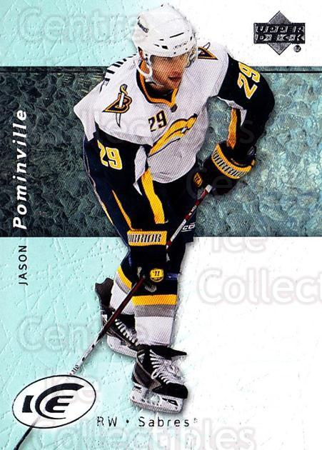 2007-08 UD Ice #23 Jason Pominville<br/>4 In Stock - $1.00 each - <a href=https://centericecollectibles.foxycart.com/cart?name=2007-08%20UD%20Ice%20%2323%20Jason%20Pominvill...&quantity_max=4&price=$1.00&code=136225 class=foxycart> Buy it now! </a>