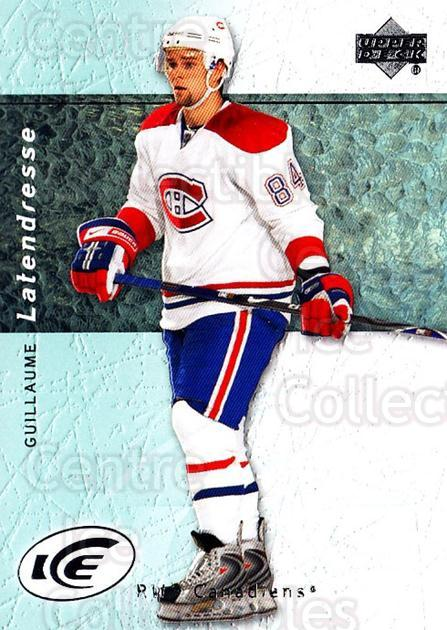 2007-08 UD Ice #26 Guillaume Latendresse<br/>5 In Stock - $1.00 each - <a href=https://centericecollectibles.foxycart.com/cart?name=2007-08%20UD%20Ice%20%2326%20Guillaume%20Laten...&quantity_max=5&price=$1.00&code=136228 class=foxycart> Buy it now! </a>