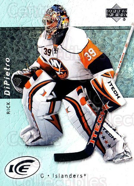 2007-08 UD Ice #4 Rick DiPietro<br/>6 In Stock - $1.00 each - <a href=https://centericecollectibles.foxycart.com/cart?name=2007-08%20UD%20Ice%20%234%20Rick%20DiPietro...&quantity_max=6&price=$1.00&code=136243 class=foxycart> Buy it now! </a>