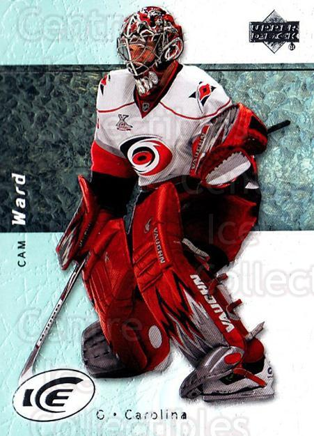 2007-08 UD Ice #40 Cam Ward<br/>6 In Stock - $1.00 each - <a href=https://centericecollectibles.foxycart.com/cart?name=2007-08%20UD%20Ice%20%2340%20Cam%20Ward...&quantity_max=6&price=$1.00&code=136244 class=foxycart> Buy it now! </a>