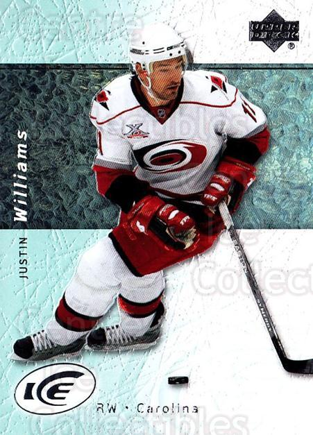 2007-08 UD Ice #41 Justin Williams<br/>6 In Stock - $1.00 each - <a href=https://centericecollectibles.foxycart.com/cart?name=2007-08%20UD%20Ice%20%2341%20Justin%20Williams...&quantity_max=6&price=$1.00&code=136245 class=foxycart> Buy it now! </a>