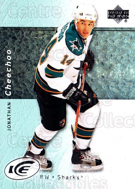 2007-08 UD Ice #99 Jonathan Cheechoo<br/>5 In Stock - $1.00 each - <a href=https://centericecollectibles.foxycart.com/cart?name=2007-08%20UD%20Ice%20%2399%20Jonathan%20Cheech...&quantity_max=5&price=$1.00&code=136307 class=foxycart> Buy it now! </a>