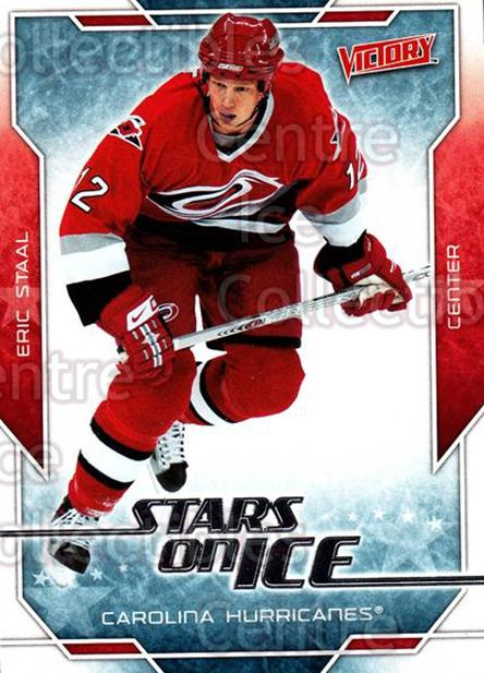 2007-08 UD Victory Stars on Ice #12 Eric Staal<br/>4 In Stock - $2.00 each - <a href=https://centericecollectibles.foxycart.com/cart?name=2007-08%20UD%20Victory%20Stars%20on%20Ice%20%2312%20Eric%20Staal...&quantity_max=4&price=$2.00&code=136309 class=foxycart> Buy it now! </a>