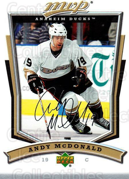 2007-08 Upper Deck MVP #109 Andy McDonald<br/>5 In Stock - $1.00 each - <a href=https://centericecollectibles.foxycart.com/cart?name=2007-08%20Upper%20Deck%20MVP%20%23109%20Andy%20McDonald...&quantity_max=5&price=$1.00&code=136344 class=foxycart> Buy it now! </a>