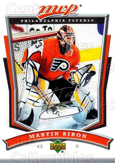 2007-08 Upper Deck MVP #123 Martin Biron<br/>5 In Stock - $1.00 each - <a href=https://centericecollectibles.foxycart.com/cart?name=2007-08%20Upper%20Deck%20MVP%20%23123%20Martin%20Biron...&quantity_max=5&price=$1.00&code=136360 class=foxycart> Buy it now! </a>