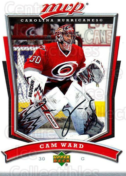 2007-08 Upper Deck MVP #138 Cam Ward<br/>4 In Stock - $1.00 each - <a href=https://centericecollectibles.foxycart.com/cart?name=2007-08%20Upper%20Deck%20MVP%20%23138%20Cam%20Ward...&price=$1.00&code=136376 class=foxycart> Buy it now! </a>