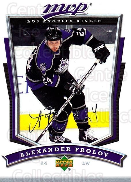 2007-08 Upper Deck MVP #150 Alexander Frolov<br/>5 In Stock - $1.00 each - <a href=https://centericecollectibles.foxycart.com/cart?name=2007-08%20Upper%20Deck%20MVP%20%23150%20Alexander%20Frolo...&quantity_max=5&price=$1.00&code=136390 class=foxycart> Buy it now! </a>