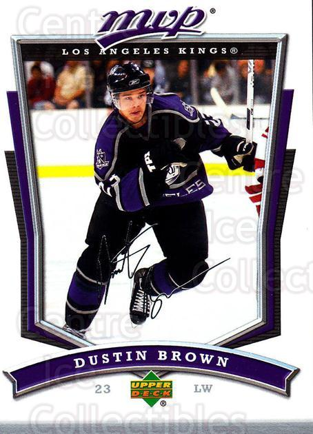 2007-08 Upper Deck MVP #153 Dustin Brown<br/>5 In Stock - $1.00 each - <a href=https://centericecollectibles.foxycart.com/cart?name=2007-08%20Upper%20Deck%20MVP%20%23153%20Dustin%20Brown...&quantity_max=5&price=$1.00&code=136393 class=foxycart> Buy it now! </a>