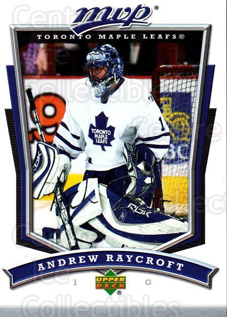 2007-08 Upper Deck MVP #174 Andrew Raycroft<br/>4 In Stock - $1.00 each - <a href=https://centericecollectibles.foxycart.com/cart?name=2007-08%20Upper%20Deck%20MVP%20%23174%20Andrew%20Raycroft...&quantity_max=4&price=$1.00&code=136416 class=foxycart> Buy it now! </a>