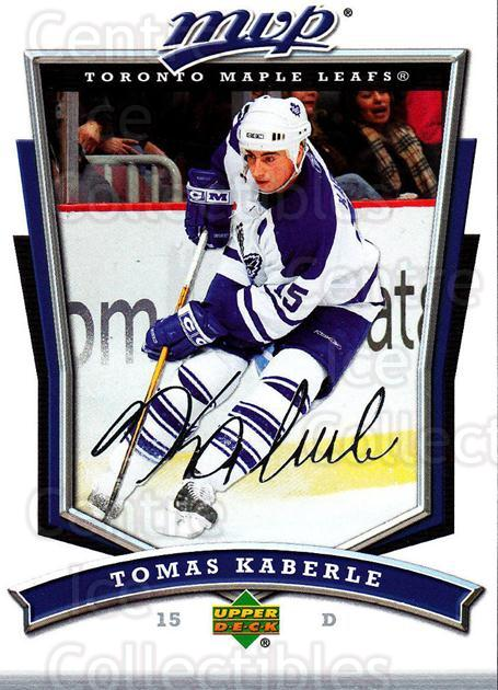 2007-08 Upper Deck MVP #178 Tomas Kaberle<br/>5 In Stock - $1.00 each - <a href=https://centericecollectibles.foxycart.com/cart?name=2007-08%20Upper%20Deck%20MVP%20%23178%20Tomas%20Kaberle...&quantity_max=5&price=$1.00&code=136420 class=foxycart> Buy it now! </a>