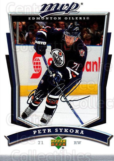 2007-08 Upper Deck MVP #181 Petr Sykora<br/>4 In Stock - $1.00 each - <a href=https://centericecollectibles.foxycart.com/cart?name=2007-08%20Upper%20Deck%20MVP%20%23181%20Petr%20Sykora...&quantity_max=4&price=$1.00&code=136424 class=foxycart> Buy it now! </a>