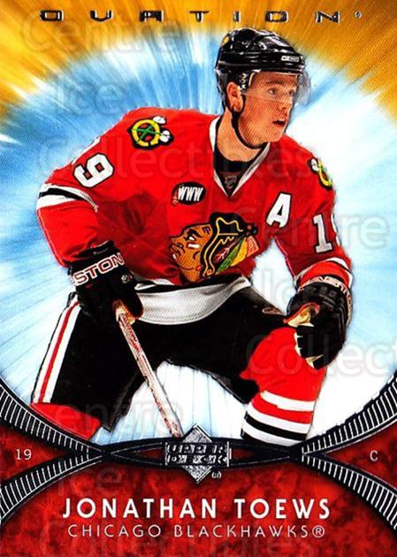 2007-08 UD Ovation #219 Jonathan Toews<br/>3 In Stock - $10.00 each - <a href=https://centericecollectibles.foxycart.com/cart?name=2007-08%20UD%20Ovation%20%23219%20Jonathan%20Toews...&quantity_max=3&price=$10.00&code=136499 class=foxycart> Buy it now! </a>