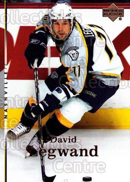 2007-08 Upper Deck #13 David Legwand<br/>13 In Stock - $1.00 each - <a href=https://centericecollectibles.foxycart.com/cart?name=2007-08%20Upper%20Deck%20%2313%20David%20Legwand...&quantity_max=13&price=$1.00&code=136815 class=foxycart> Buy it now! </a>