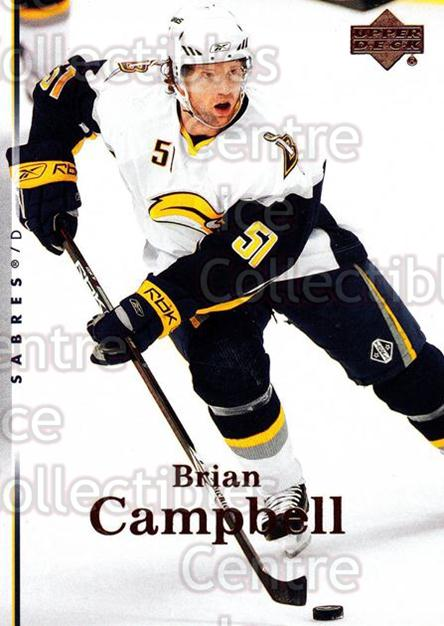 2007-08 Upper Deck #137 Brian Campbell<br/>13 In Stock - $1.00 each - <a href=https://centericecollectibles.foxycart.com/cart?name=2007-08%20Upper%20Deck%20%23137%20Brian%20Campbell...&quantity_max=13&price=$1.00&code=136823 class=foxycart> Buy it now! </a>