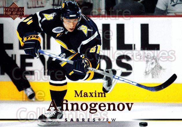 2007-08 Upper Deck #139 Maxim Afinogenov<br/>13 In Stock - $1.00 each - <a href=https://centericecollectibles.foxycart.com/cart?name=2007-08%20Upper%20Deck%20%23139%20Maxim%20Afinogeno...&quantity_max=13&price=$1.00&code=136825 class=foxycart> Buy it now! </a>