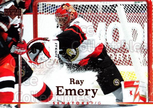 2007-08 Upper Deck #144 Ray Emery<br/>13 In Stock - $1.00 each - <a href=https://centericecollectibles.foxycart.com/cart?name=2007-08%20Upper%20Deck%20%23144%20Ray%20Emery...&quantity_max=13&price=$1.00&code=136831 class=foxycart> Buy it now! </a>