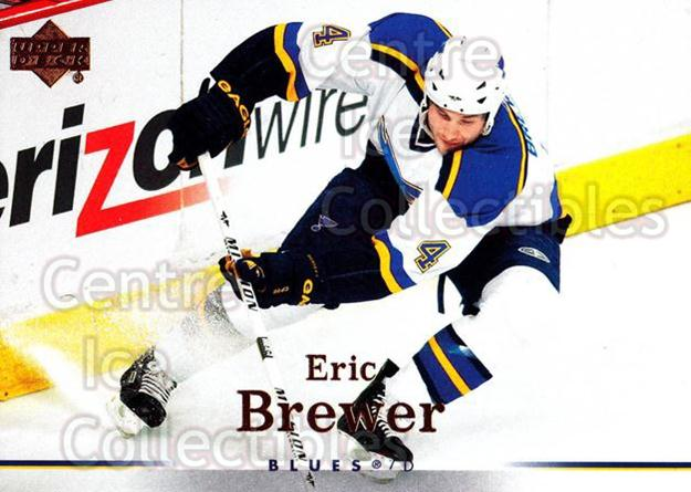 2007-08 Upper Deck #17 Eric Brewer<br/>12 In Stock - $1.00 each - <a href=https://centericecollectibles.foxycart.com/cart?name=2007-08%20Upper%20Deck%20%2317%20Eric%20Brewer...&quantity_max=12&price=$1.00&code=136859 class=foxycart> Buy it now! </a>