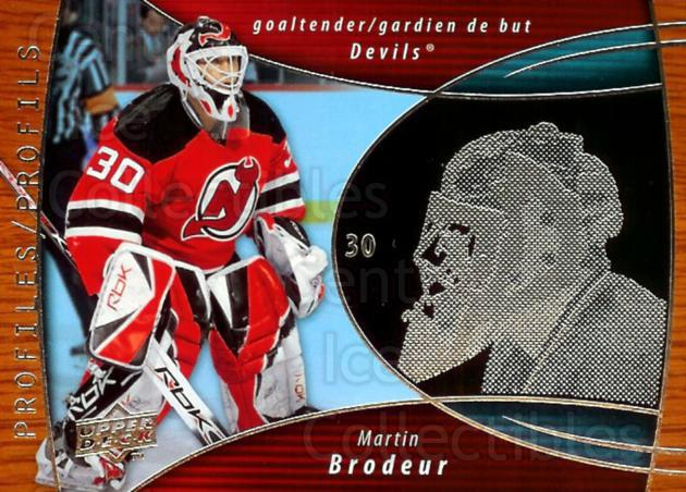 2008-09 McDonald's Upper Deck Profiles #7 Martin Brodeur<br/>4 In Stock - $3.00 each - <a href=https://centericecollectibles.foxycart.com/cart?name=2008-09%20McDonald's%20Upper%20Deck%20Profiles%20%237%20Martin%20Brodeur...&price=$3.00&code=136891 class=foxycart> Buy it now! </a>