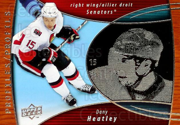 2008-09 McDonalds Upper Deck Profiles #4 Dany Heatley<br/>2 In Stock - $3.00 each - <a href=https://centericecollectibles.foxycart.com/cart?name=2008-09%20McDonalds%20Upper%20Deck%20Profiles%20%234%20Dany%20Heatley...&quantity_max=2&price=$3.00&code=136895 class=foxycart> Buy it now! </a>