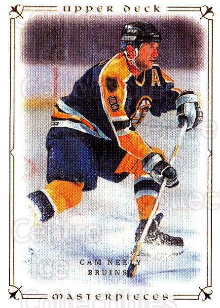 2008-09 UD Masterpieces #22 Cam Neely<br/>6 In Stock - $1.00 each - <a href=https://centericecollectibles.foxycart.com/cart?name=2008-09%20UD%20Masterpieces%20%2322%20Cam%20Neely...&quantity_max=6&price=$1.00&code=136981 class=foxycart> Buy it now! </a>