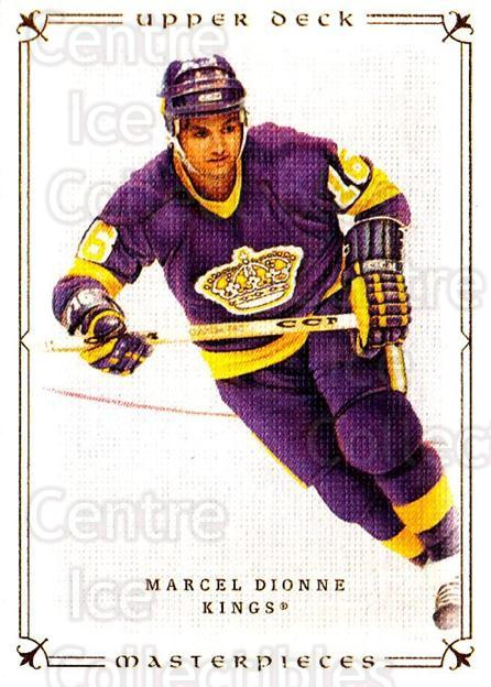 2008-09 UD Masterpieces #59 Marcel Dionne<br/>6 In Stock - $1.00 each - <a href=https://centericecollectibles.foxycart.com/cart?name=2008-09%20UD%20Masterpieces%20%2359%20Marcel%20Dionne...&quantity_max=6&price=$1.00&code=137017 class=foxycart> Buy it now! </a>