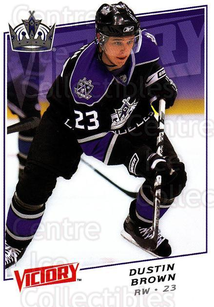 2008-09 UD Victory #107 Dustin Brown<br/>6 In Stock - $1.00 each - <a href=https://centericecollectibles.foxycart.com/cart?name=2008-09%20UD%20Victory%20%23107%20Dustin%20Brown...&quantity_max=6&price=$1.00&code=137052 class=foxycart> Buy it now! </a>