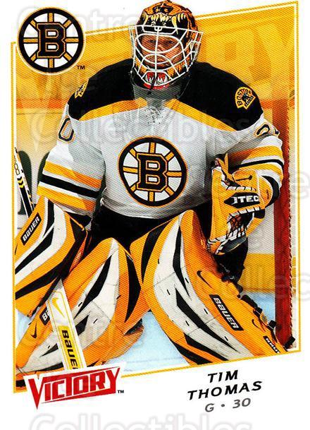 2008-09 UD Victory #177 Tim Thomas<br/>6 In Stock - $1.00 each - <a href=https://centericecollectibles.foxycart.com/cart?name=2008-09%20UD%20Victory%20%23177%20Tim%20Thomas...&quantity_max=6&price=$1.00&code=137121 class=foxycart> Buy it now! </a>