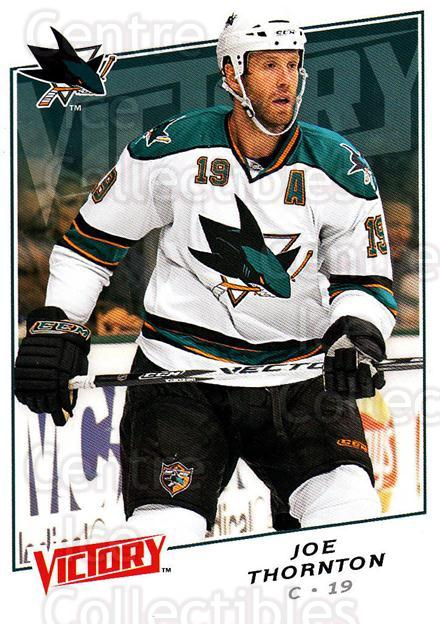 2008-09 UD Victory #32 Joe Thornton<br/>6 In Stock - $1.00 each - <a href=https://centericecollectibles.foxycart.com/cart?name=2008-09%20UD%20Victory%20%2332%20Joe%20Thornton...&quantity_max=6&price=$1.00&code=137191 class=foxycart> Buy it now! </a>