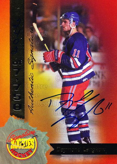 1995 Signature Rookies Hockey Signatures #22 Daymond Langkow<br/>4 In Stock - $3.00 each - <a href=https://centericecollectibles.foxycart.com/cart?name=1995%20Signature%20Rookies%20Hockey%20Signatures%20%2322%20Daymond%20Langkow...&quantity_max=4&price=$3.00&code=137203 class=foxycart> Buy it now! </a>
