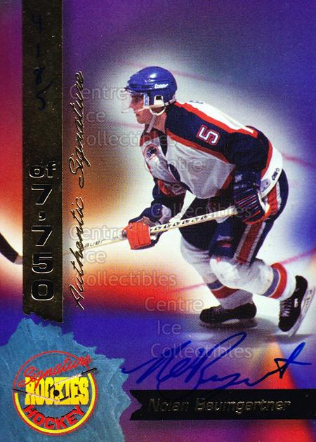 1995 Signature Rookies Hockey Signatures #25 Nolan Baumgartner<br/>3 In Stock - $3.00 each - <a href=https://centericecollectibles.foxycart.com/cart?name=1995%20Signature%20Rookies%20Hockey%20Signatures%20%2325%20Nolan%20Baumgartn...&quantity_max=3&price=$3.00&code=137206 class=foxycart> Buy it now! </a>