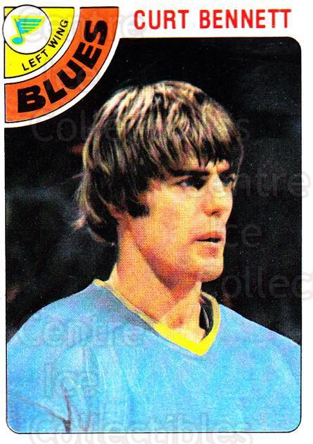 1978-79 Topps #31 Curt Bennett<br/>13 In Stock - $1.00 each - <a href=https://centericecollectibles.foxycart.com/cart?name=1978-79%20Topps%20%2331%20Curt%20Bennett...&quantity_max=13&price=$1.00&code=137257 class=foxycart> Buy it now! </a>