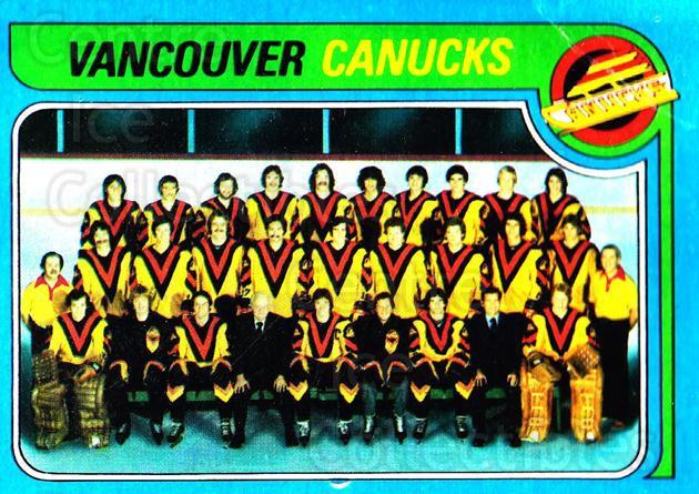 1979-80 Topps #259 Vancouver Canucks, Checklist<br/>2 In Stock - $3.00 each - <a href=https://centericecollectibles.foxycart.com/cart?name=1979-80%20Topps%20%23259%20Vancouver%20Canuc...&quantity_max=2&price=$3.00&code=137460 class=foxycart> Buy it now! </a>