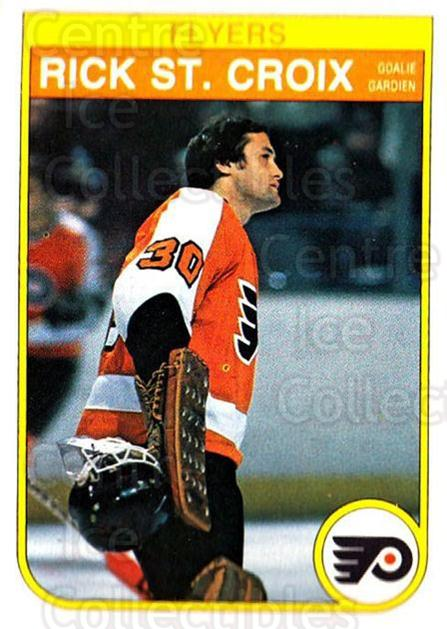 1982-83 O-Pee-Chee #258 Rick St.Croix<br/>2 In Stock - $1.00 each - <a href=https://centericecollectibles.foxycart.com/cart?name=1982-83%20O-Pee-Chee%20%23258%20Rick%20St.Croix...&quantity_max=2&price=$1.00&code=137586 class=foxycart> Buy it now! </a>