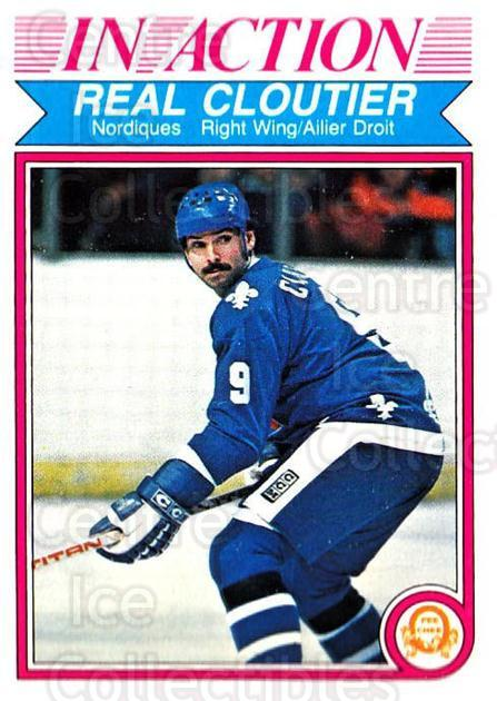 1982-83 O-Pee-Chee #280 Real Cloutier<br/>10 In Stock - $1.00 each - <a href=https://centericecollectibles.foxycart.com/cart?name=1982-83%20O-Pee-Chee%20%23280%20Real%20Cloutier...&quantity_max=10&price=$1.00&code=137611 class=foxycart> Buy it now! </a>