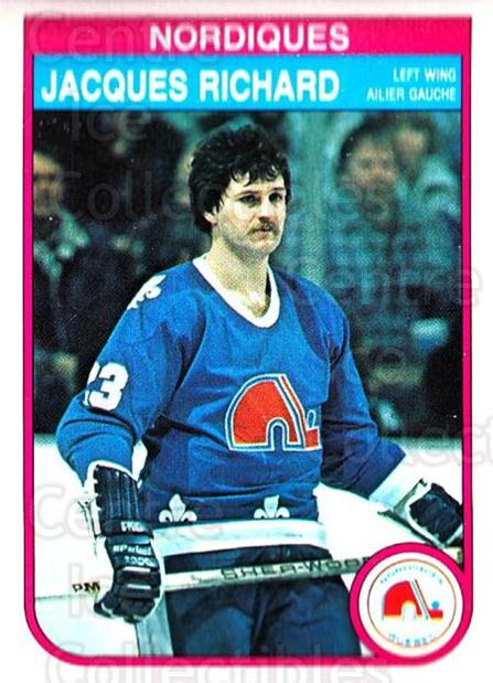 1982-83 O-Pee-Chee #290 Jacques Richard<br/>9 In Stock - $1.00 each - <a href=https://centericecollectibles.foxycart.com/cart?name=1982-83%20O-Pee-Chee%20%23290%20Jacques%20Richard...&quantity_max=9&price=$1.00&code=137622 class=foxycart> Buy it now! </a>