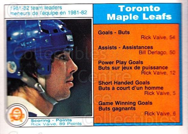 1982-83 O-Pee-Chee #314 Rick Vaive<br/>6 In Stock - $1.00 each - <a href=https://centericecollectibles.foxycart.com/cart?name=1982-83%20O-Pee-Chee%20%23314%20Rick%20Vaive...&quantity_max=6&price=$1.00&code=137647 class=foxycart> Buy it now! </a>