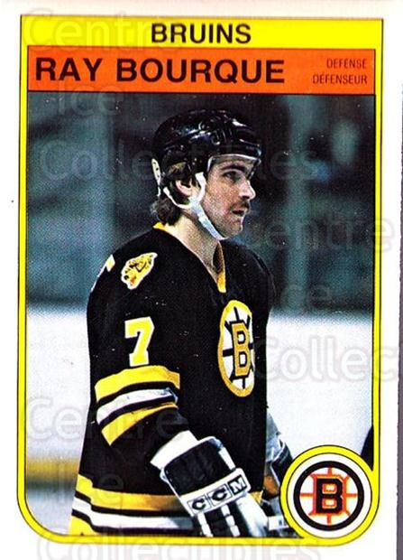 1982-83 O-Pee-Chee #7 Ray Bourque<br/>4 In Stock - $10.00 each - <a href=https://centericecollectibles.foxycart.com/cart?name=1982-83%20O-Pee-Chee%20%237%20Ray%20Bourque...&quantity_max=4&price=$10.00&code=137767 class=foxycart> Buy it now! </a>
