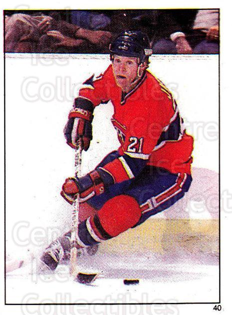1982-83 O-Pee-Chee Stickers #40 Doug Jarvis<br/>6 In Stock - $2.00 each - <a href=https://centericecollectibles.foxycart.com/cart?name=1982-83%20O-Pee-Chee%20Stickers%20%2340%20Doug%20Jarvis...&quantity_max=6&price=$2.00&code=137833 class=foxycart> Buy it now! </a>