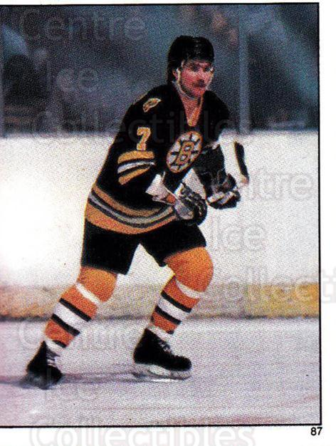 1982-83 Topps Stickers #87 Ray Bourque<br/>8 In Stock - $2.00 each - <a href=https://centericecollectibles.foxycart.com/cart?name=1982-83%20Topps%20Stickers%20%2387%20Ray%20Bourque...&quantity_max=8&price=$2.00&code=137979 class=foxycart> Buy it now! </a>